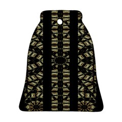 Vertical Stripes Tribal Print Bell Ornament (2 Sides) by dflcprints