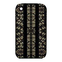 Vertical Stripes Tribal Print Apple Iphone 3g/3gs Hardshell Case (pc+silicone) by dflcprints