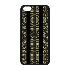 Vertical Stripes Tribal Print Apple Iphone 5c Seamless Case (black) by dflcprints