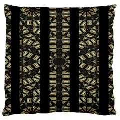 Vertical Stripes Tribal Print Large Flano Cushion Case (two Sides) by dflcprints