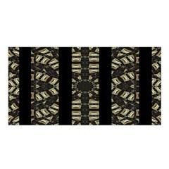 Vertical Stripes Tribal Print Satin Shawl by dflcprintsclothing