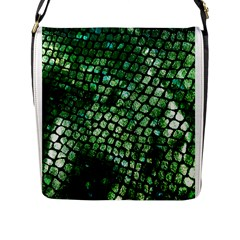 Dragon Scales Flap Messenger Bag (l)  by KirstenStar