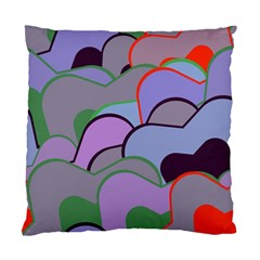 Wavy Shapes Pieces                                                                          	standard Cushion Case (two Sides) by LalyLauraFLM