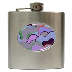 Wavy Shapes Pieces                                                                          			hip Flask (6 Oz) by LalyLauraFLM