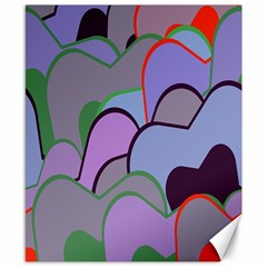 Wavy Shapes Pieces                                                                          canvas 8  X 10  by LalyLauraFLM