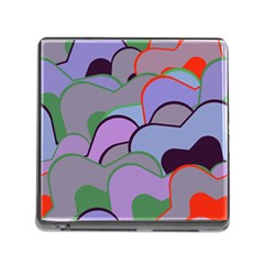 Wavy Shapes Pieces                                                                          			memory Card Reader (square) by LalyLauraFLM