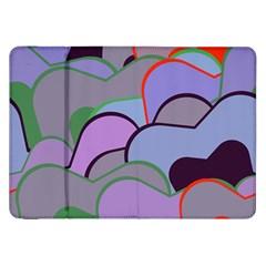 Wavy Shapes Pieces                                                                          samsung Galaxy Tab 8 9  P7300 Flip Case by LalyLauraFLM
