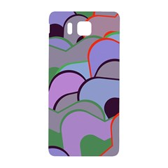 Wavy Shapes Pieces                                                                          			samsung Galaxy Alpha Hardshell Back Case by LalyLauraFLM