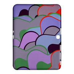 Wavy shapes pieces                                                                          			Samsung Galaxy Tab 4 (10.1 ) Hardshell Case by LalyLauraFLM