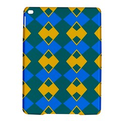 Blue Yellow Rhombus Pattern                                                                           			apple Ipad Air 2 Hardshell Case by LalyLauraFLM