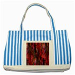Fairy Tree Bark Striped Blue Tote Bag