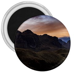 Sunset Scane At Cajas National Park In Cuenca Ecuador 3  Magnets by dflcprints