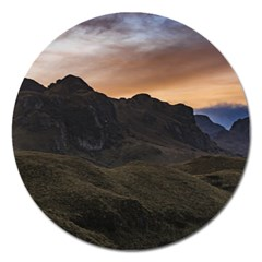 Sunset Scane At Cajas National Park In Cuenca Ecuador Magnet 5  (round) by dflcprints