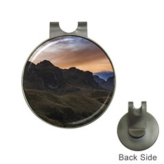 Sunset Scane At Cajas National Park In Cuenca Ecuador Hat Clips With Golf Markers by dflcprints