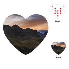 Sunset Scane At Cajas National Park In Cuenca Ecuador Playing Cards (heart)  by dflcprints