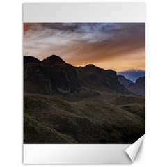 Sunset Scane At Cajas National Park In Cuenca Ecuador Canvas 36  X 48   by dflcprints