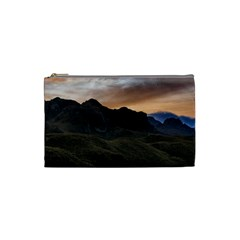 Sunset Scane At Cajas National Park In Cuenca Ecuador Cosmetic Bag (small)  by dflcprints