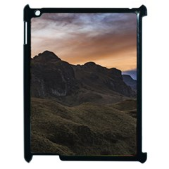 Sunset Scane At Cajas National Park In Cuenca Ecuador Apple Ipad 2 Case (black) by dflcprints