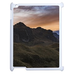 Sunset Scane At Cajas National Park In Cuenca Ecuador Apple Ipad 2 Case (white) by dflcprints