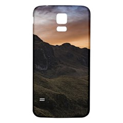 Sunset Scane at Cajas National Park in Cuenca Ecuador Samsung Galaxy S5 Back Case (White) by dflcprints