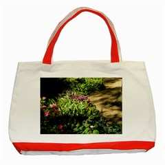 Shadowed Ground Cover Classic Tote Bag (red) by ArtsFolly