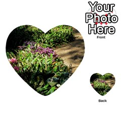 Shadowed Ground Cover Multi Purpose Cards (heart)  by ArtsFolly