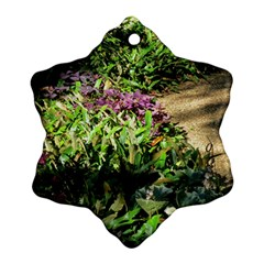 Shadowed Ground Cover Snowflake Ornament (2 Side) by ArtsFolly