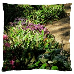 Shadowed Ground Cover Large Cushion Case (one Side) by ArtsFolly