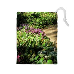 Shadowed Ground Cover Drawstring Pouches (large)  by ArtsFolly
