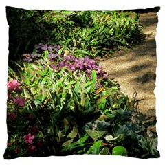Shadowed Ground Cover Large Flano Cushion Case (two Sides) by ArtsFolly