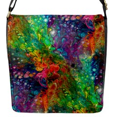 Reality Is Melting Flap Messenger Bag (s) by KirstenStar