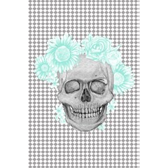 Floral Skull Turquoise 5.5  x 8.5  Notebooks by Coralascanbe