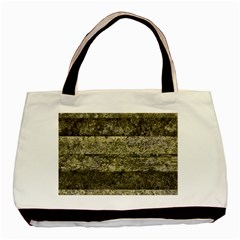 Grunge Stripes Print Basic Tote Bag (two Sides) by dflcprints