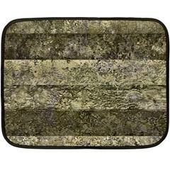 Grunge Stripes Print Fleece Blanket (mini) by dflcprints