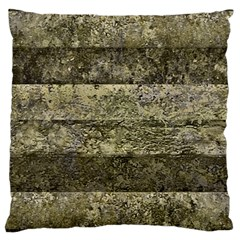 Grunge Stripes Print Large Cushion Case (one Side) by dflcprints