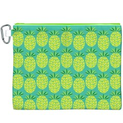 Pineapples Canvas Cosmetic Bag (xxxl) by olgart