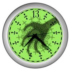 Haunted Mansion Clock Wall Clocks (silver)  by CorsairsDesign