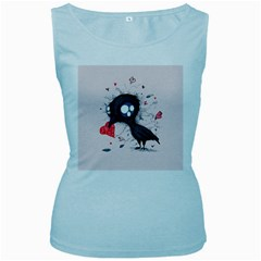 Baby Crow  Women s Baby Blue Tank Top by lvbart