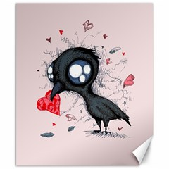 Baby Crow  Canvas 8  X 10  by lvbart
