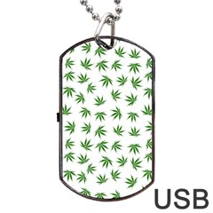 Marijuana Pattern Dog Tag USB Flash (One Side) by stockimagefolio