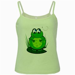 Green Frog Green Spaghetti Tank by Valentinaart