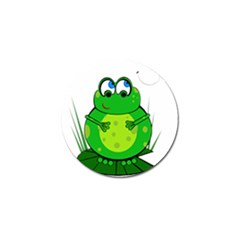 Green Frog Golf Ball Marker (4 Pack) by Valentinaart