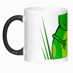 Green Frog Morph Mugs by Valentinaart