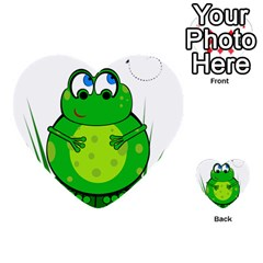 Green Frog Multi Purpose Cards (heart)  by Valentinaart