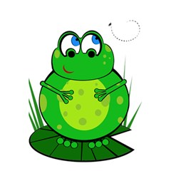 Green Frog 5 5  X 8 5  Notebooks by Valentinaart