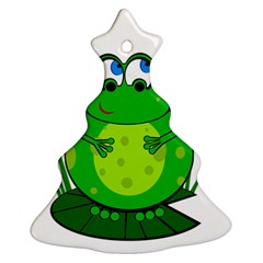 Green Frog Ornament (christmas Tree) by Valentinaart