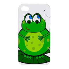 Green Frog Apple Iphone 4/4s Premium Hardshell Case by Valentinaart