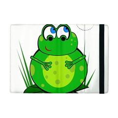 Green Frog Apple Ipad Mini Flip Case by Valentinaart