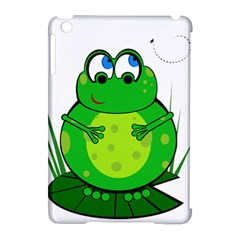 Green Frog Apple Ipad Mini Hardshell Case (compatible With Smart Cover) by Valentinaart