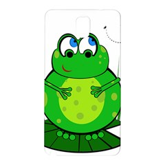 Green Frog Samsung Galaxy Note 3 N9005 Hardshell Back Case by Valentinaart